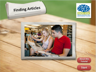 Finding Articles Tutorial Link