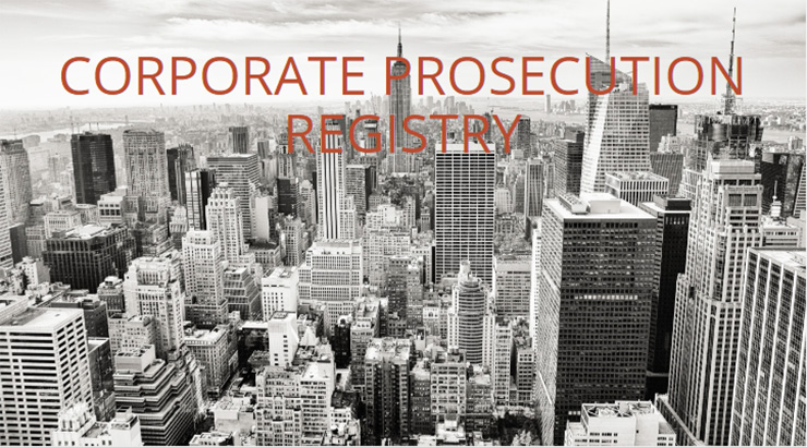 Corporate Prosecutions Registry website