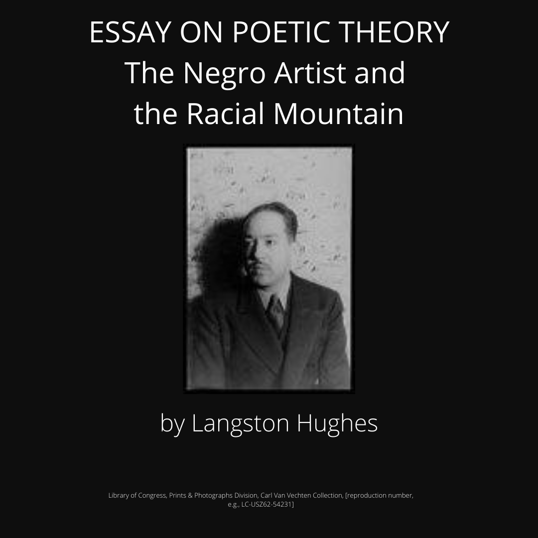 Essay on Poetic Theory by Langston Hughes