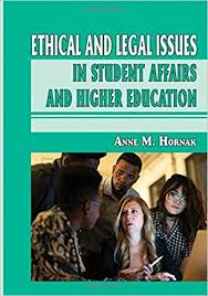 Book jacket for Ethical and Legal Issues in Student Affairs and Higher Education