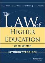 Book title: The Law of Higher Education a Comprehensive Guide