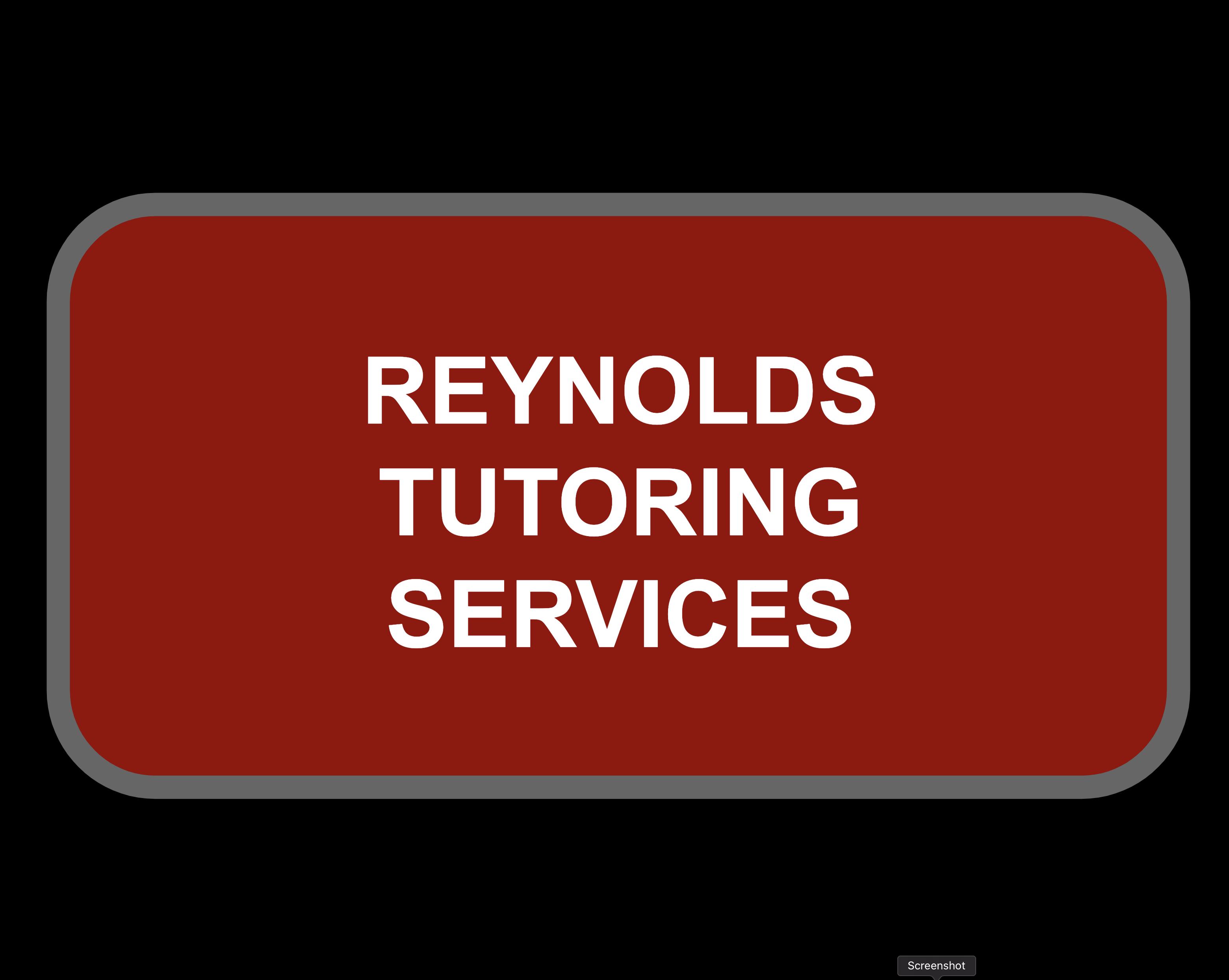 Reynolds Tutoring Service