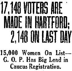 17, 148 Voters Are Made in Hartford