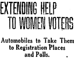 Extending Help to Women Voters