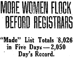 More Women Flock Befor[e] Registrars