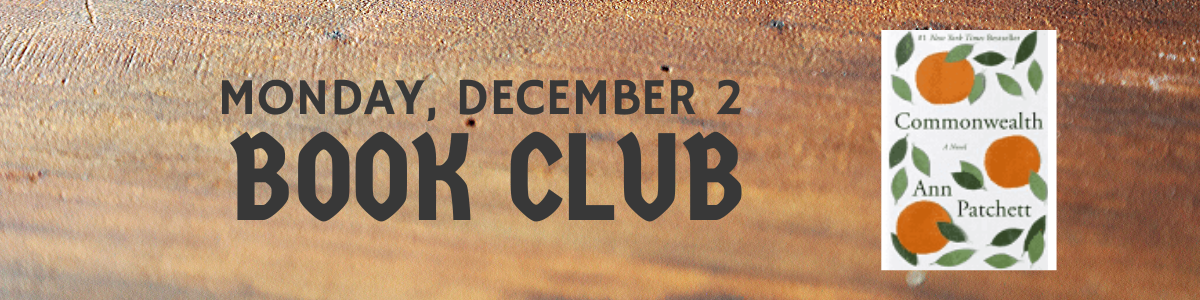 Book Club Meeting: Monday,  December 2
