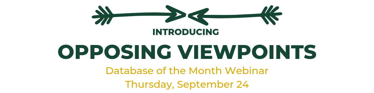 Introducing Opposing Viewpoints: Database of the Month webinar