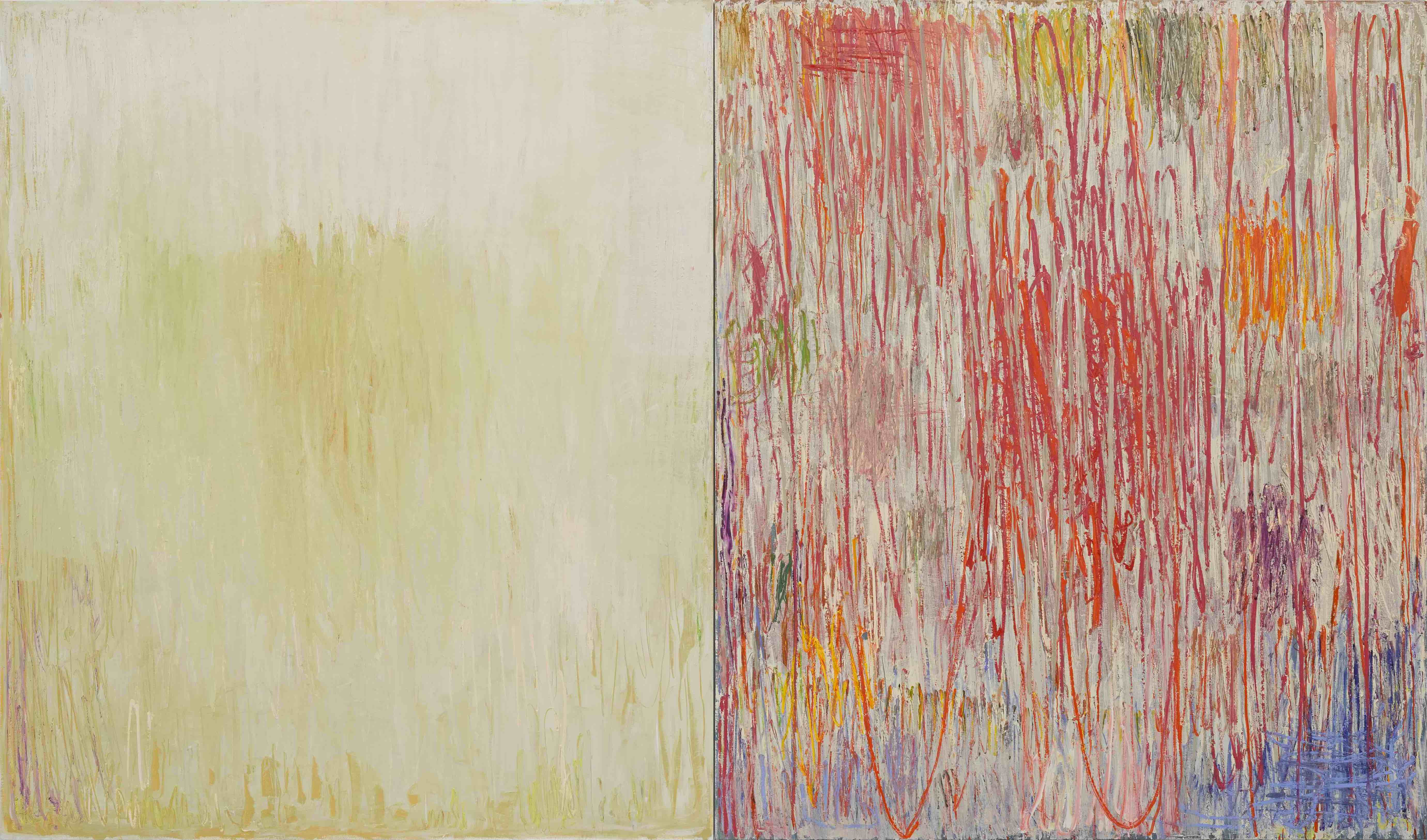 Christopher Le Brun, Mind, 2018, oil on two canvases, 200.3 x 340 cm.
