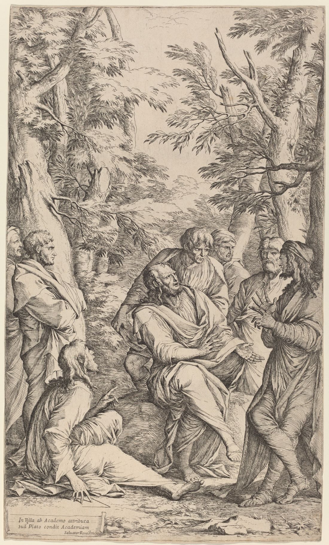 The Academy of Plato, by Salvator Rosa