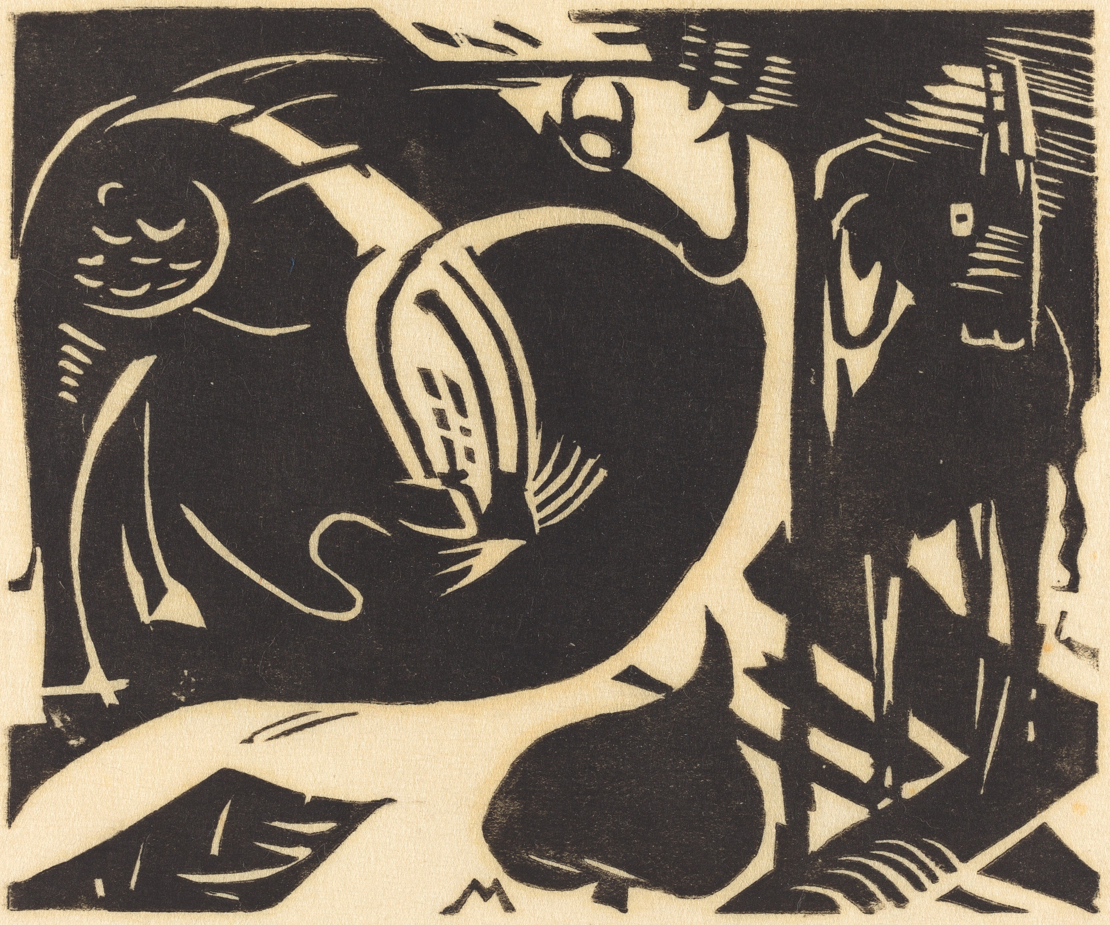Two Mythical Animals (Zwei Fabeltiere), 1914, by Franz Marc
