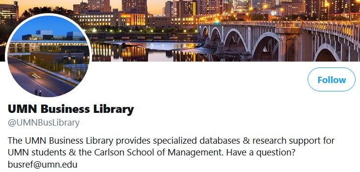 UMN Business Library twitter banner