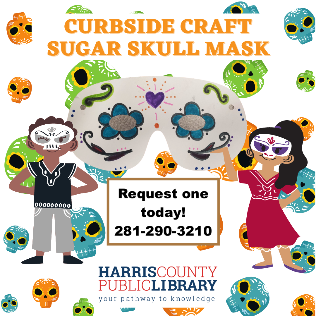 Curbside Craft Kit Sugar Skulls call 281-290-3210