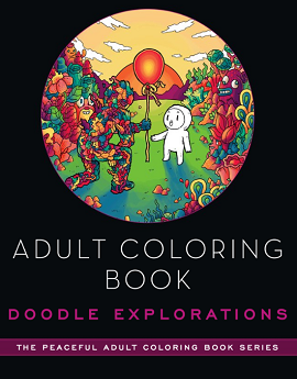 Adult coloring book cover link to flipster online magazines