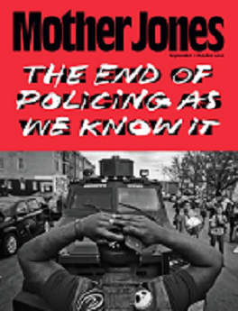Mother Jones magazine cover link to flipster online magazine