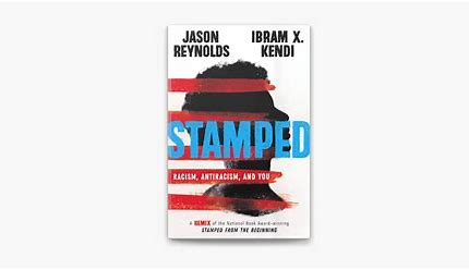 Stamped book cover by Jason Reynolds