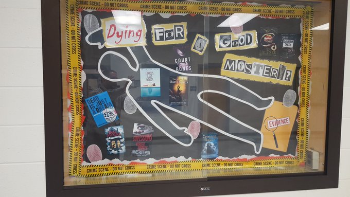 bulletin board advertising mystery fiction