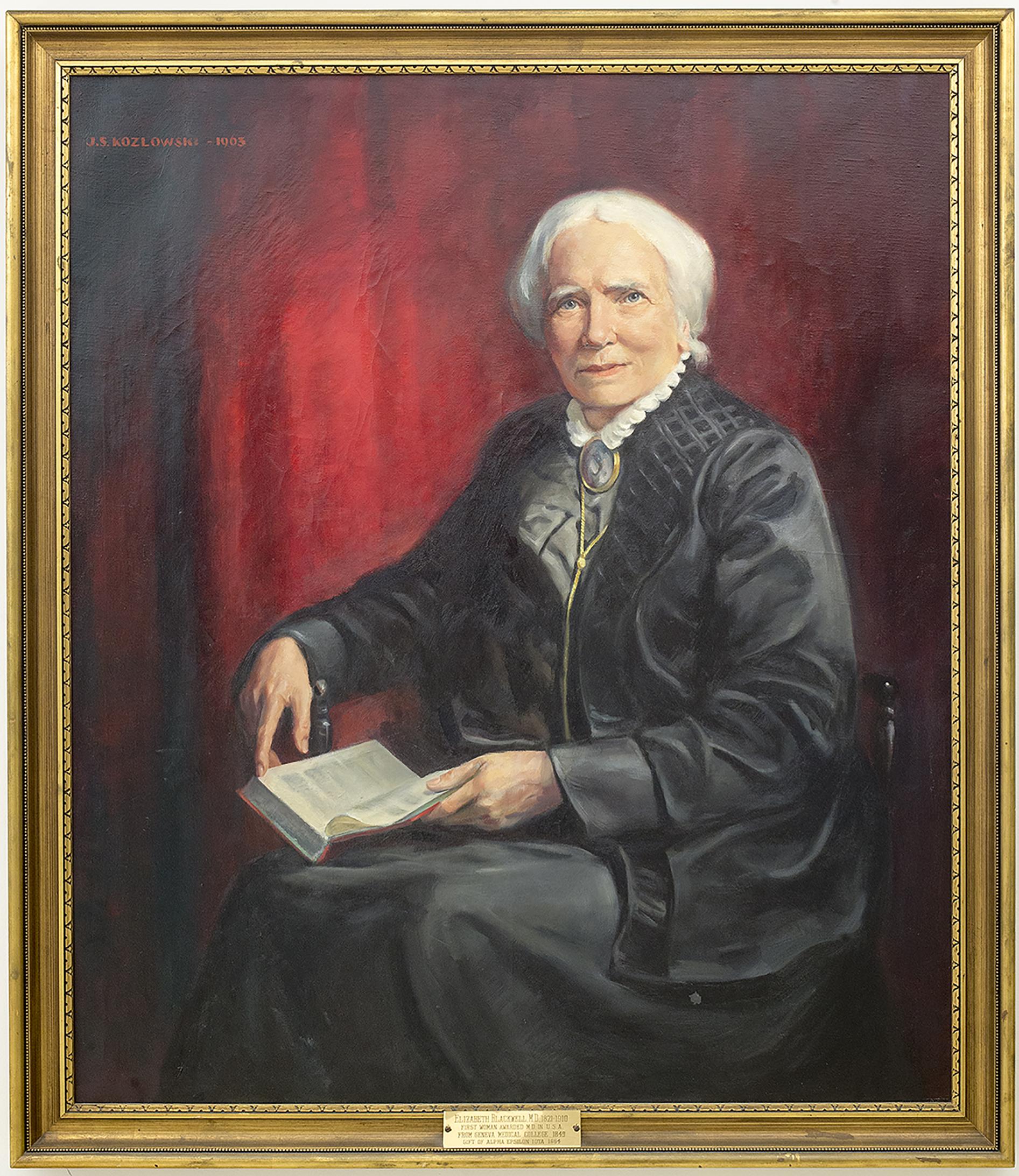 portrait of Elizabeth Blackwell M.D. by Joseph S. Kozlowski (1965)
