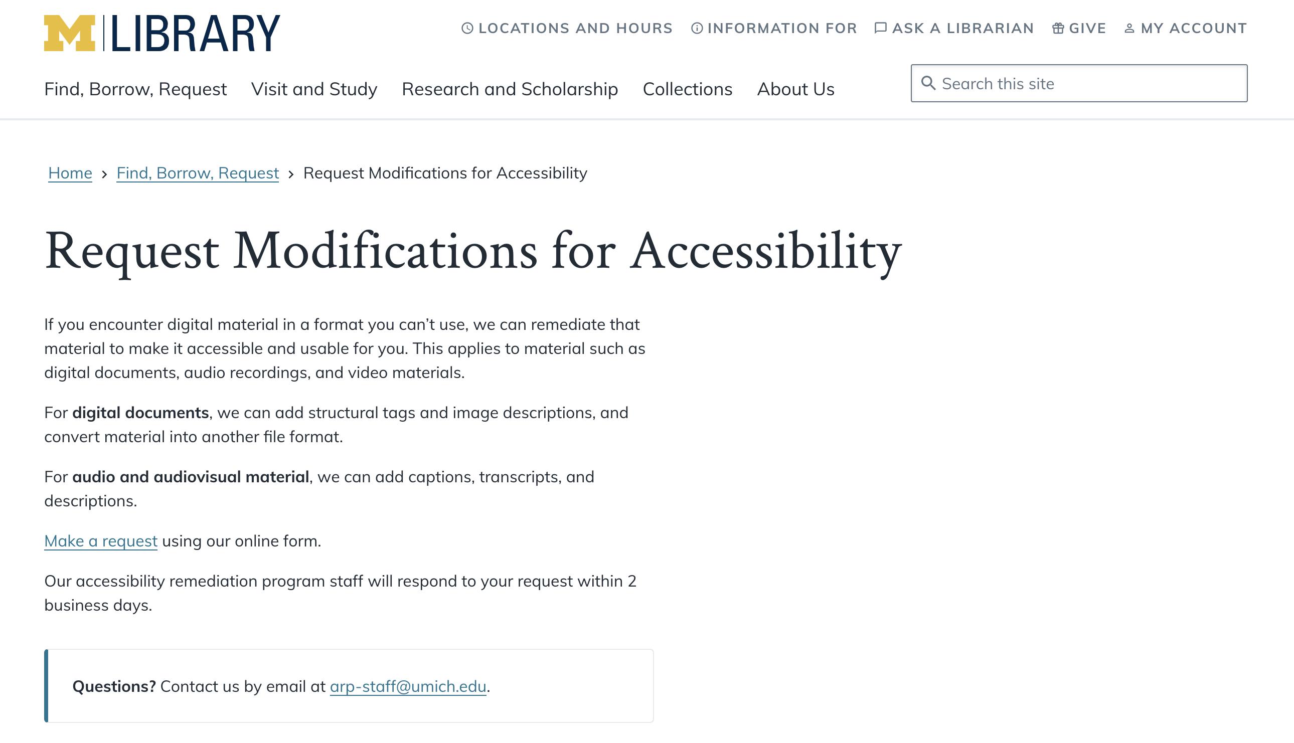 University of Michigan Accessibility