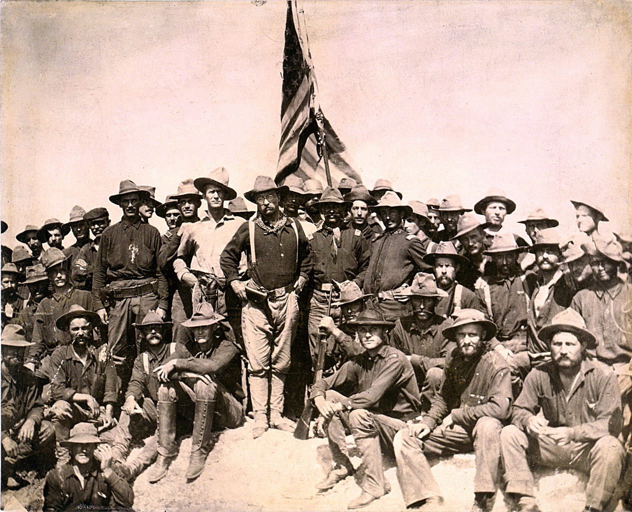 Theodore Roosevelt and the Rough Riders (Library of Congress)