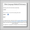 Plain Language medical dictionary app icon