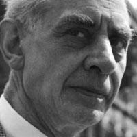 A black-and-white photograph of Erich Franzen