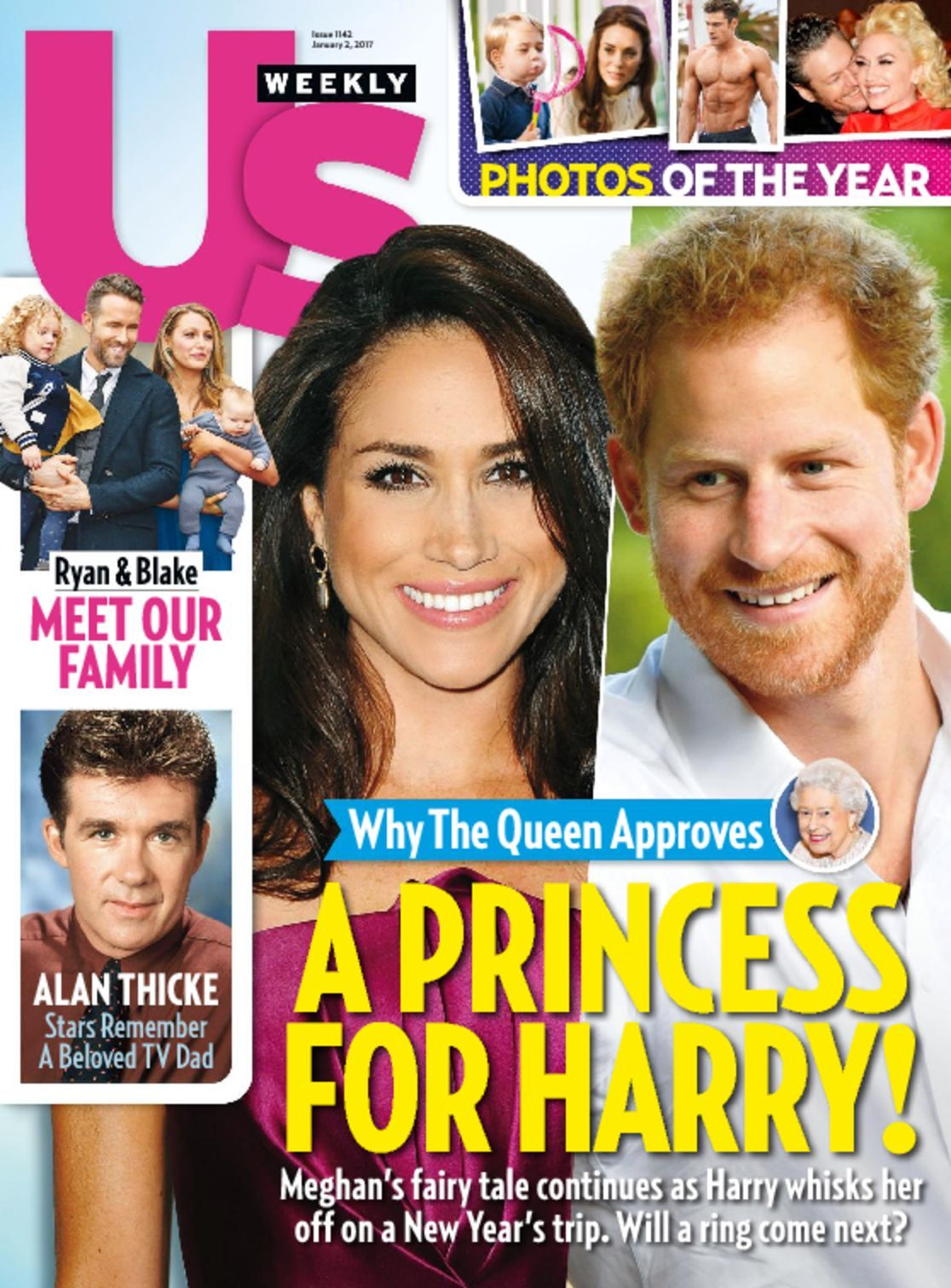 Cover image for Us Weekly includes numerous images of celebrities on a colorful cover.