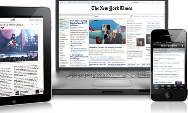 New York Times mobile displays