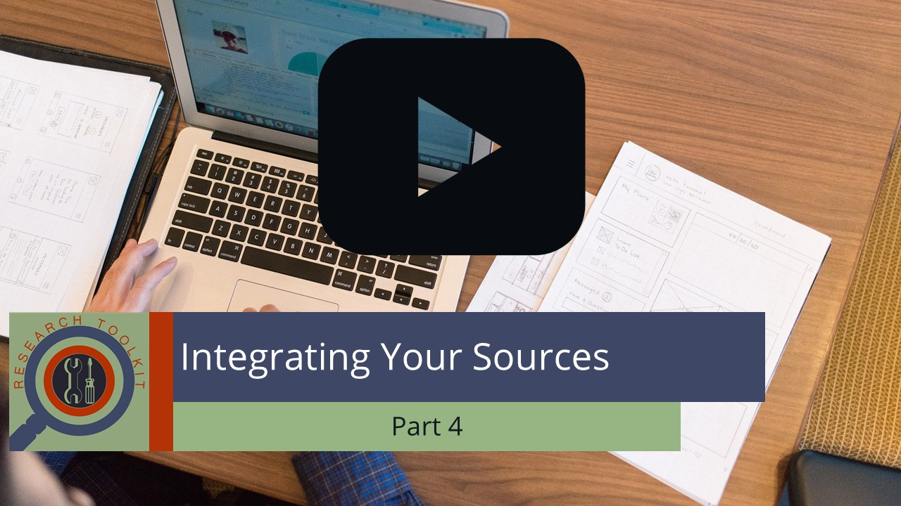 Integrating Your Sources Part 4