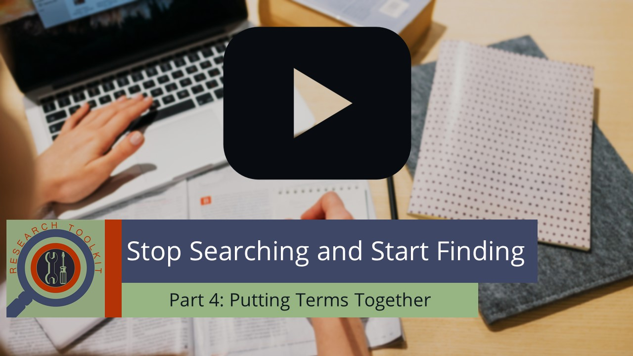 Stop Searching and Start Finding Part 4: Putting Terms Together