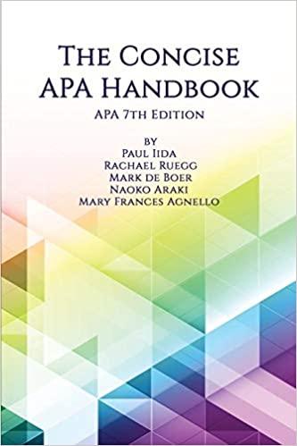 The Concise APA Handbook eBook cover