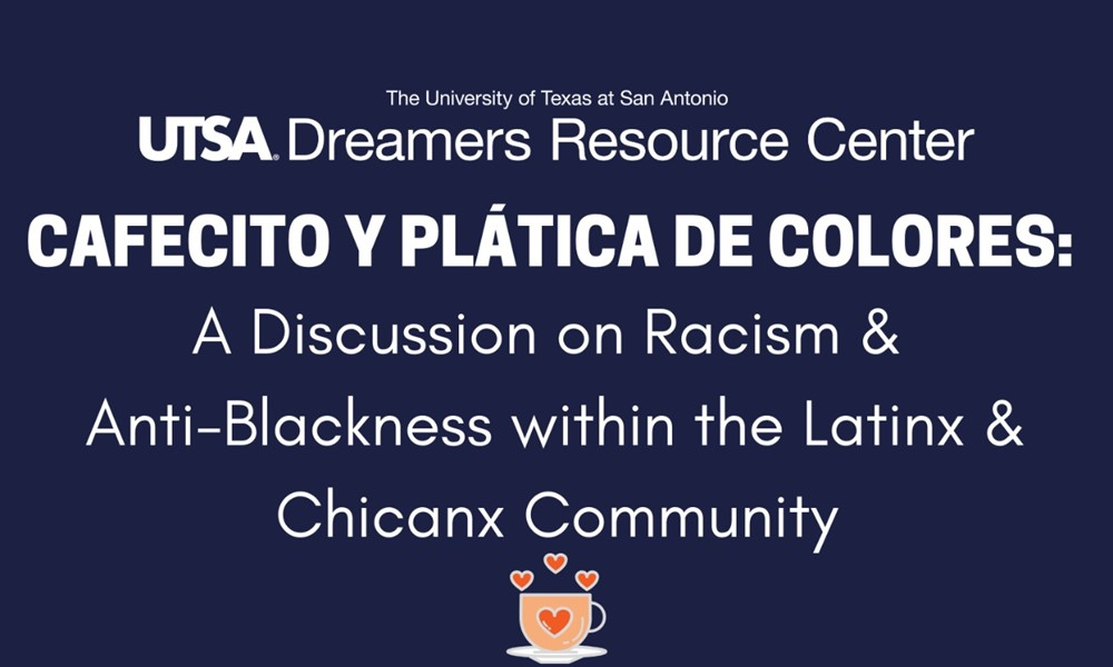 Flyer for the first Cafecito y Plática de Colores