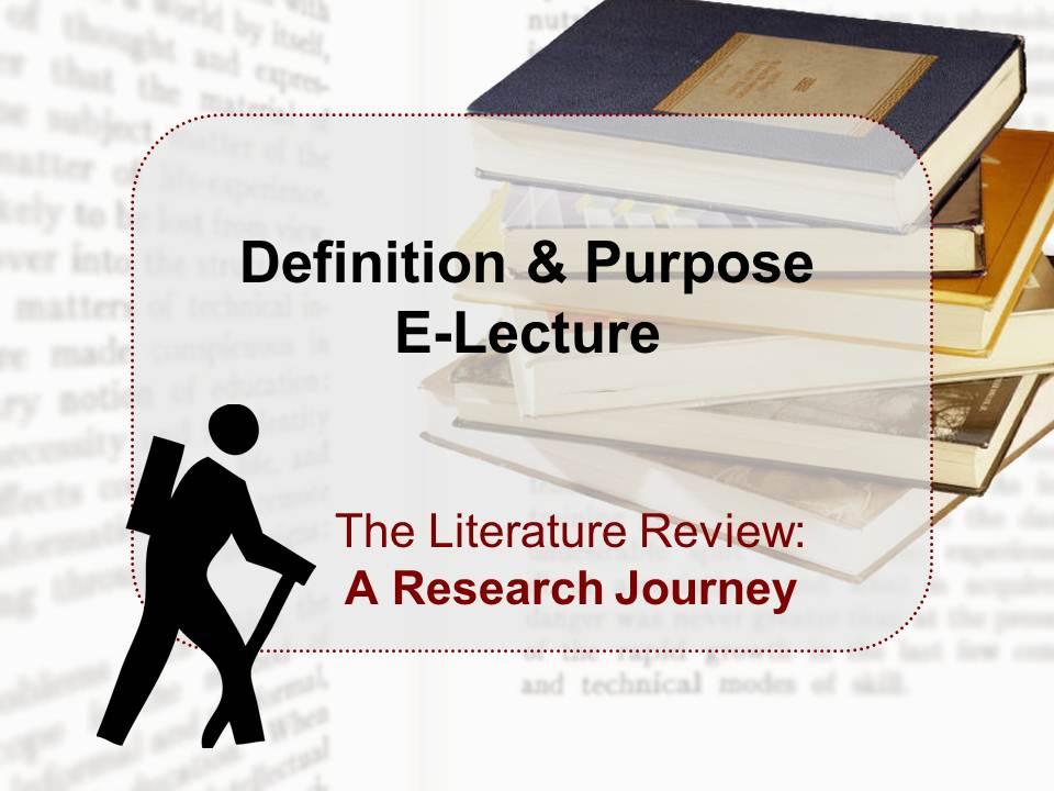 Definition & Purpose E-Lecture