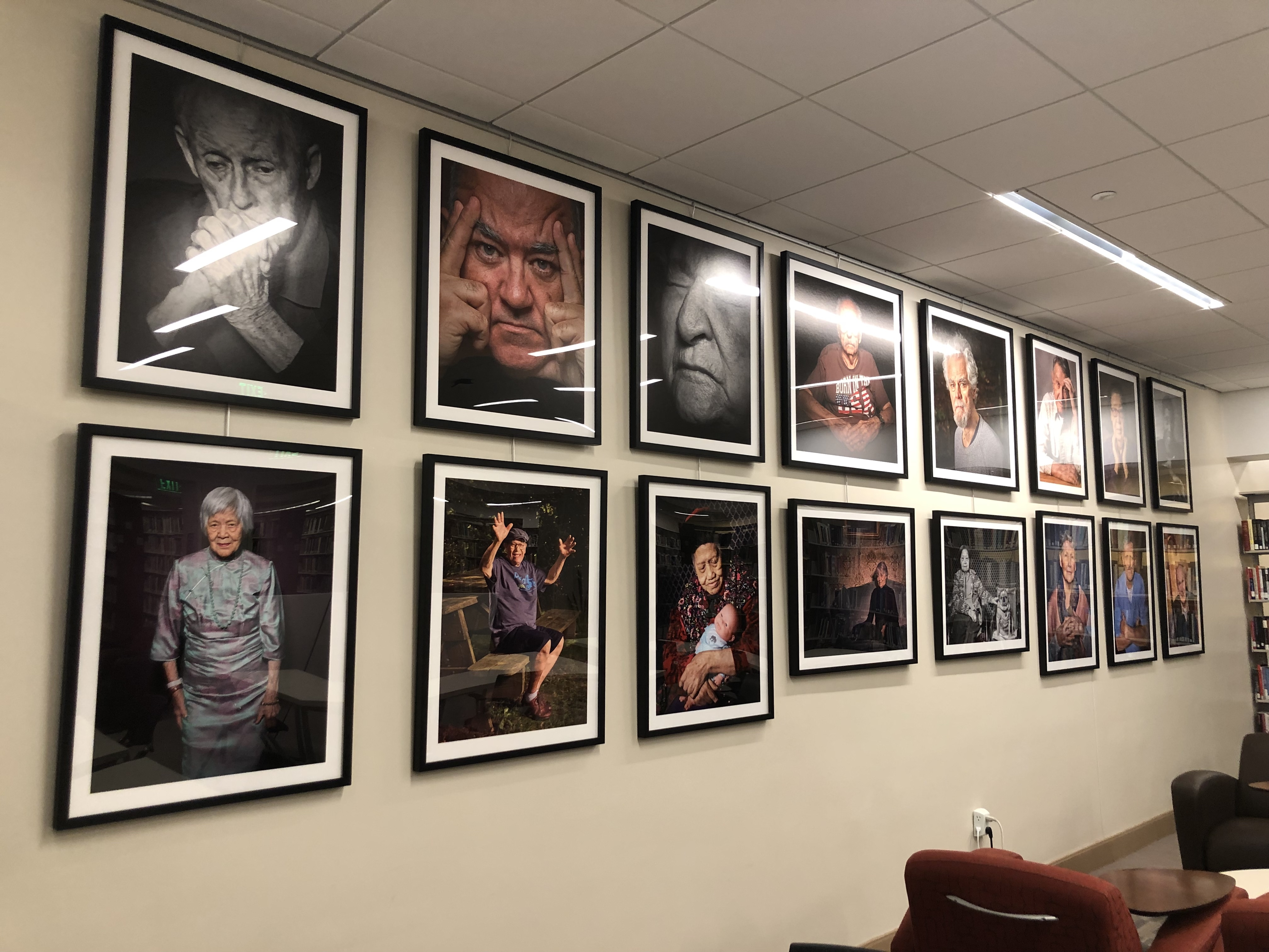 Portraits of Dementia Exhibit in the Social Work Library