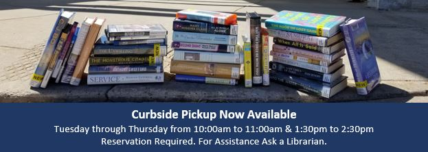 a link to curbside pickup of library items
