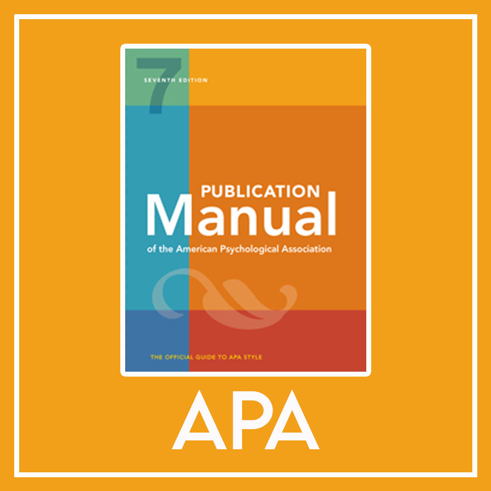 APA Publication Manual picture