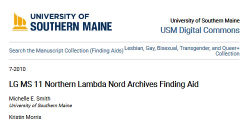 First page of a finding aid. Text reads LG MS 11 Northern Lambda Nord Archives Finding Aid.