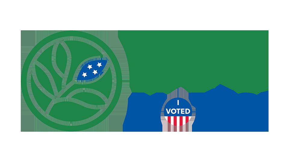 Evergreen Valley College EVC Votes logo