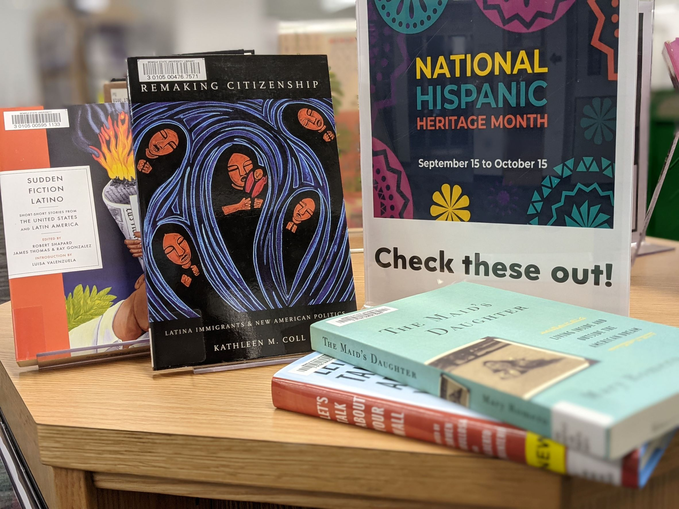 National Historical Heritage Month book display