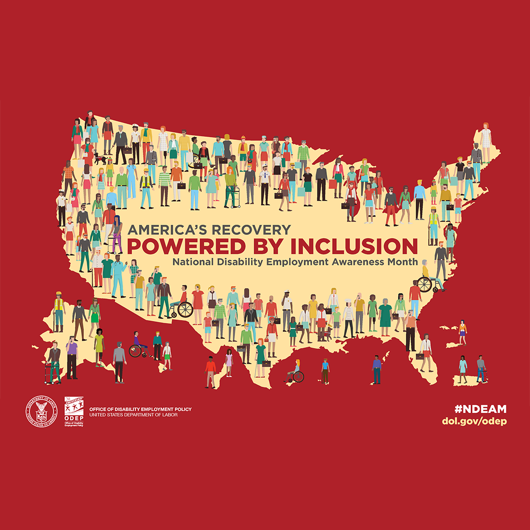 poster America's recovery powered by inclusion