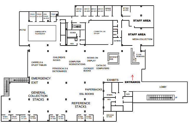 Map of EVC Library