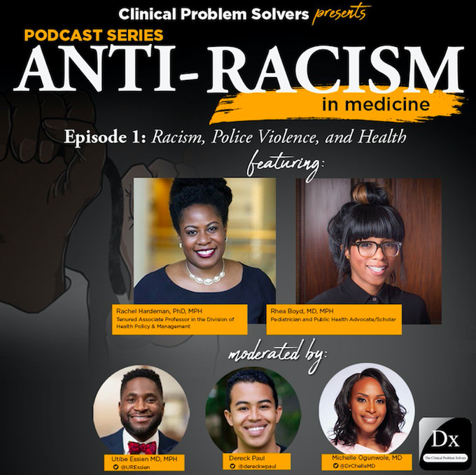 Anti-racism in medicine podcast (illustrative)