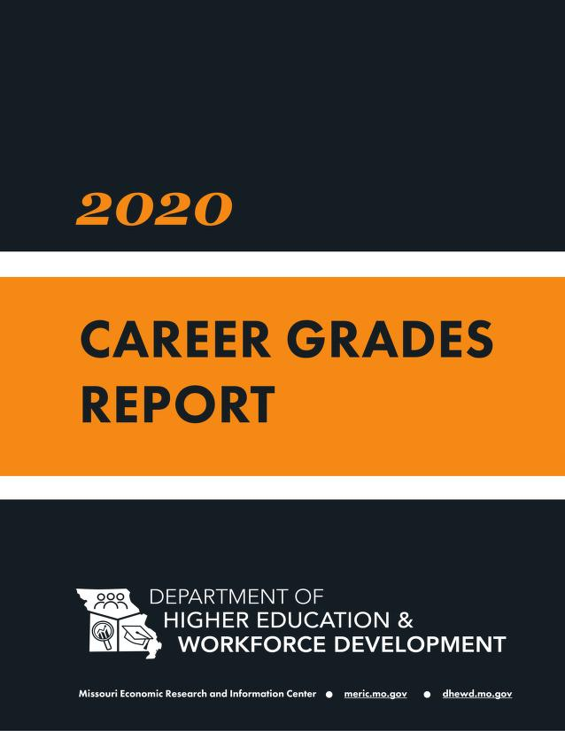 Cover image of the 2020 Career Grades Report