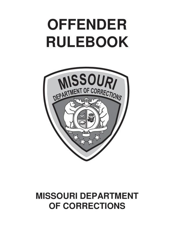 Cover Image of Offender Rulebook 2019
