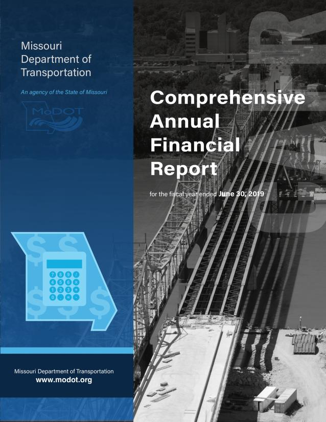 Cover image of MODOT Comprehensive Annual Financial Report, click to view
