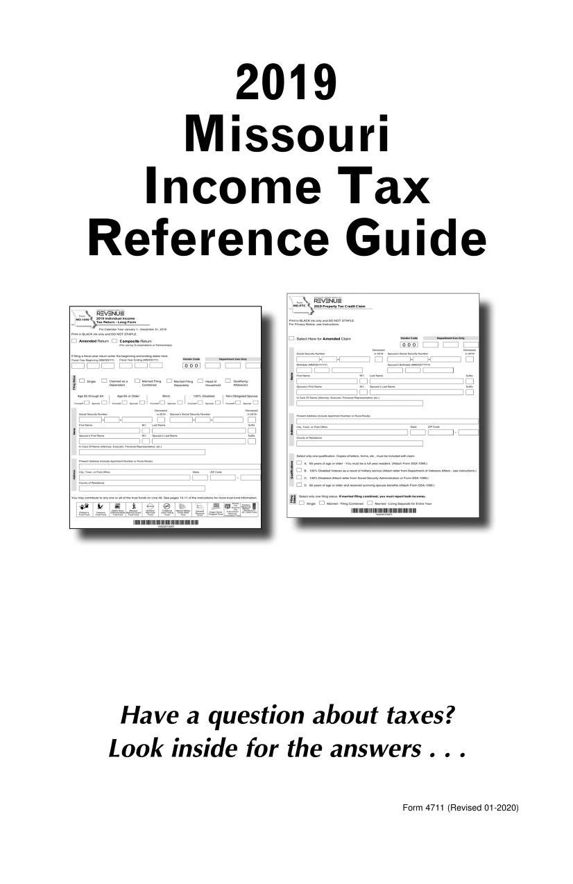 Missouri Income Tax Reference Guide 2019. Click to view.