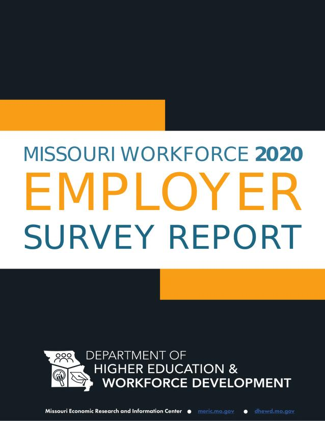 Cover Image of Missouri Workforce Employer Survey Report