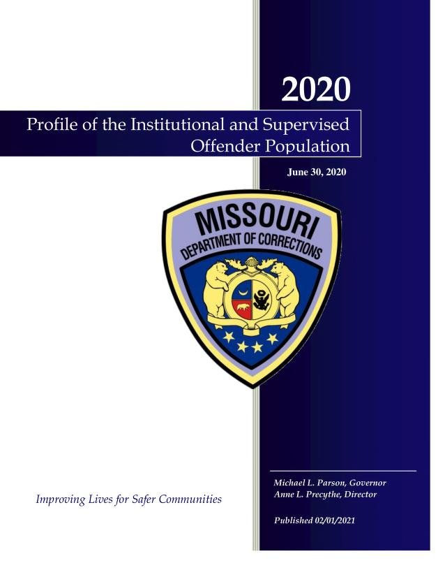 Cover Image of Profile of the Institutional and Supervised Offender Population