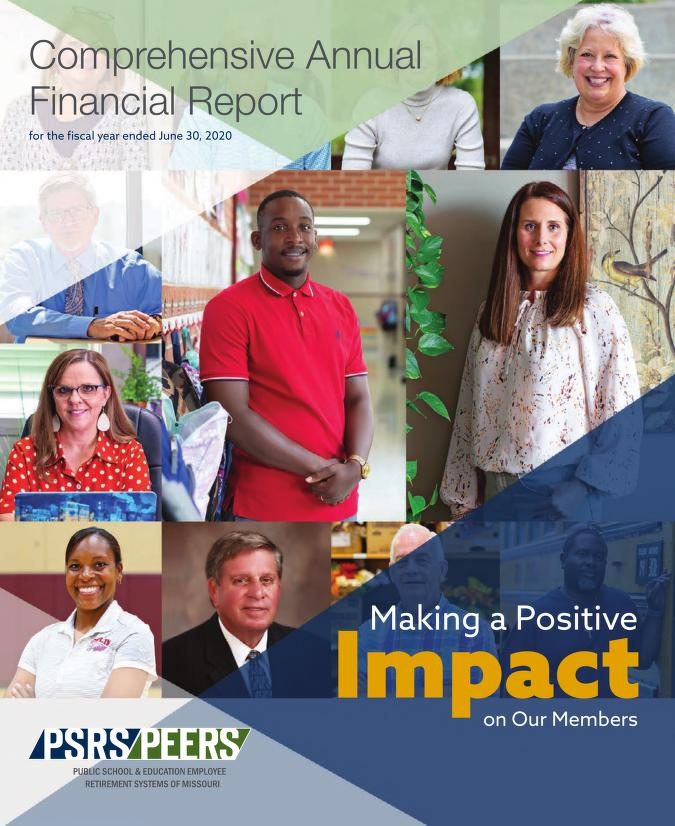 Cover Image of Public School & Education Employee Retirement Systems of Missouri Comprehensive Annual Financial Report for the Fiscal Year Ended June 30, 2020