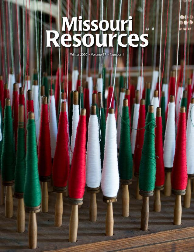 Cover image of Winter issue of Missouri Resources.