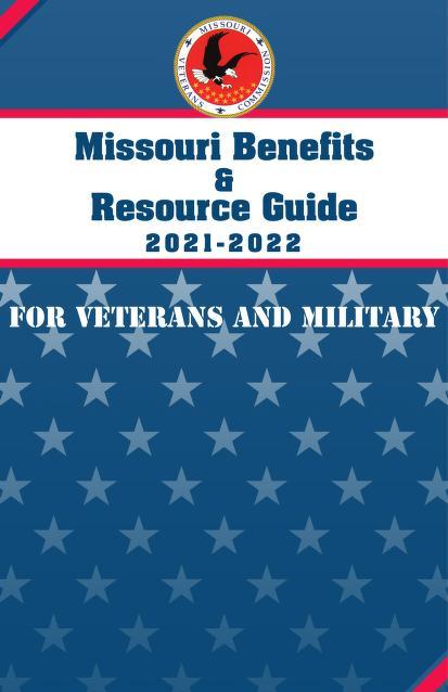Logo of Missouri Veterans Commission on starry blue background